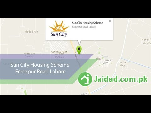 Sun City Housing Scheme Ferozpur Road Lahore infront of Central Park near DHA Phase 10 Lahore jaidad