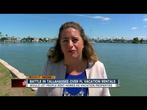 Battle in Tallahassee over FL vacation rentals