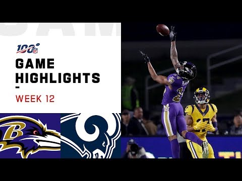 Ravens vs. Rams Week 12 Highlights | NFL 2019