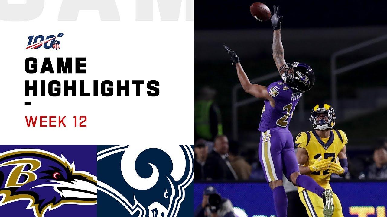 Ravens vs. Rams Week 12 Highlights | NFL 2019