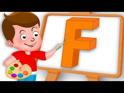 Drawing Alphabet F Letter coloring painting for kids Kids Drawing TV