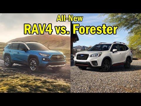 2019 Toyota RAV4 vs. 2019 Subaru Forester: VISUAL COMPARISON