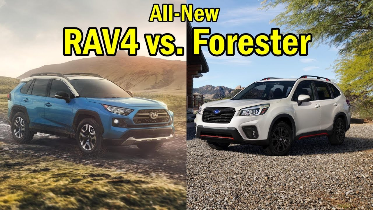 2019 Toyota Rav4 Vs 2019 Subaru Forester Visual Comparison Youtube