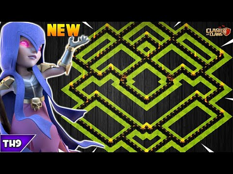 NEW TOWN HALL 9 FARMING/TROPHY BASE 2019! TH9 HYBRID FARM BASE WITH REPLAYS!! - CLASH OF CLANS(COC)