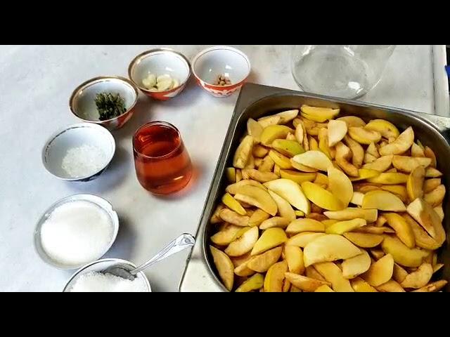 Azerbaycan usulü ayva turşusu nasıl yapılır?