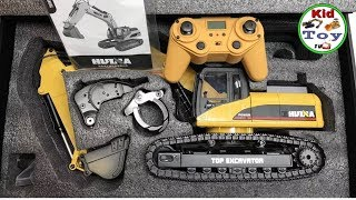 RC EXCAVATOR HUINA 580 fullmetal UNBOXING || TOY REVIEW FOR CHILDREN