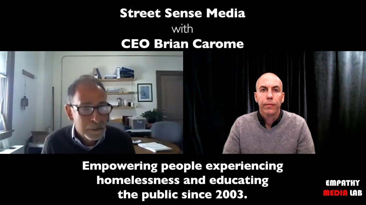 Homeless Advocate Brian Carome CEO Street Sense Media - End Homelessness in Washington, D.C.
