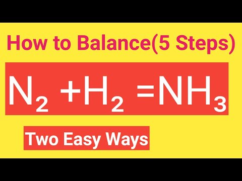 N2 +H2 =NH3 Balanced Equation - N2 + H2 → Nh3 Balance||Nitrogen+Hydrogen=Ammonia Balanced Equation