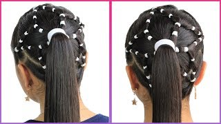 Star Hairstyle with Elastics