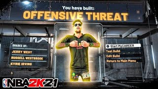 OFFENSIVE THREAT IS BACK ON NBA 2K21! CONTACT DUNKS, SPEEDBOOST & GREENS WITH NEW BEST ISO BUILD!