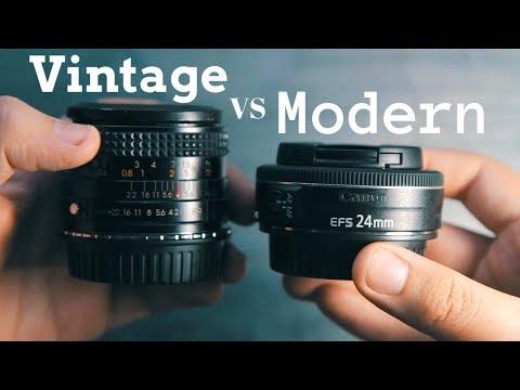 VINTAGE 28mm vs MODERN 24mm Lens Comparison
