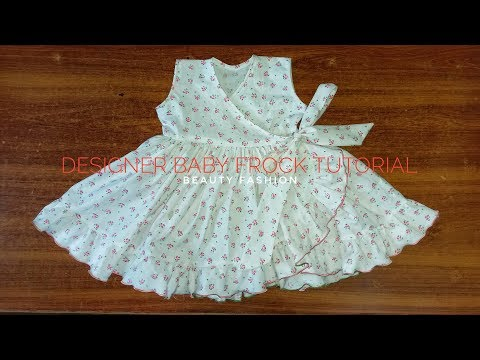Designer baby frock tutorial || beauty fashion - Видео онлайн