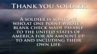 Joe Brucato - Thank You soldier