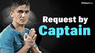Request by Sunil Chhetri | Indian Football Team | 5 Minutes to change life