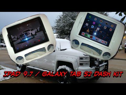 2014- 2018 Silverado Sierra IPad 9.7 Galaxy Tab S2 Dash Kit