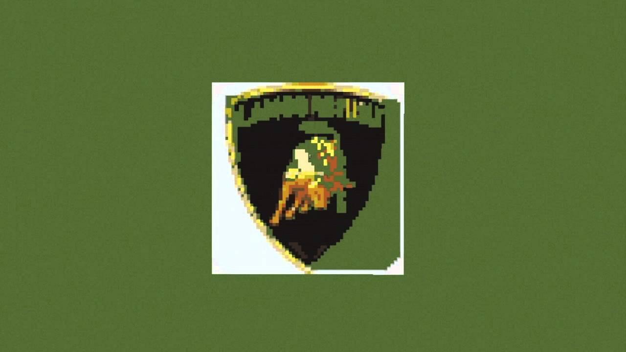 Minecraft Pixel Art Timelapse Lamborghini Logo Youtube