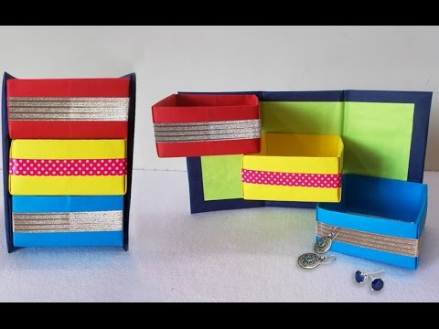 diy-projects-:-how-to-make-origami-shelves-|-desk-organizer-|-do-it-yourself