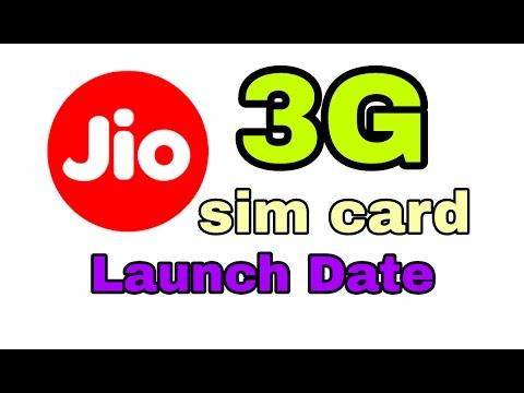 Jio 3g sim launch date