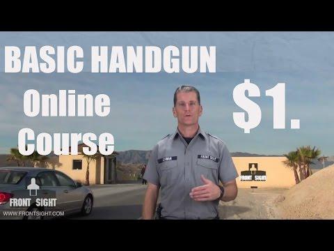 Defensive Handgun Video Course   Basic Handgun Training   Online Firearms Safety Course   Oakland CA