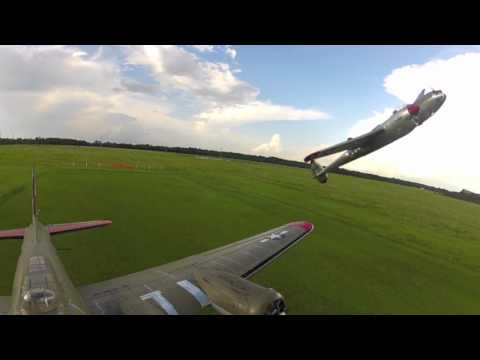 GoPro RC Formation Flying B17 and p38