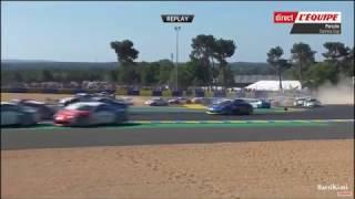 Porsche Carrera Cup Le Mans 2017 Start Big Crash