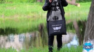 Женская сумка через плечо «Хочешь изменить мир» черная. Купить в Украине. Обзор