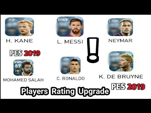 PES 2019 MOBILE   TOP 10 PLAYERS RATINGS PREDICTION !
