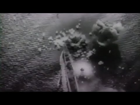 Rabaul  US Navy Carrier Aircraft Hit Japanese Ships 1944 Newsreel Footage