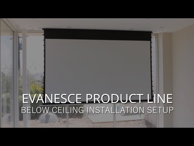 Elite Screens Evanesce Series Below Ceiling Installation