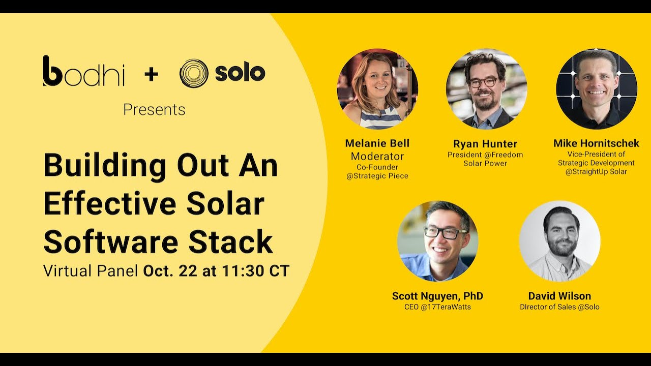 Highlights from SPI 2020 Panel: Building Out an Effective Solar Software Stack