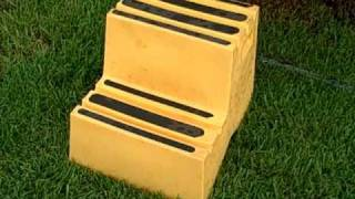A Large 2 Step Trampoline Step Stool