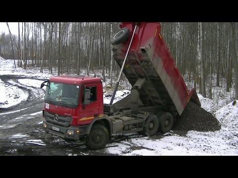 Mercedes-Benz Actros MPIII 6x4 Meiller Kipper unloading part 2