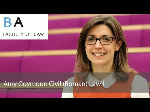 Amy Goymour: Civil (Roman) Law I