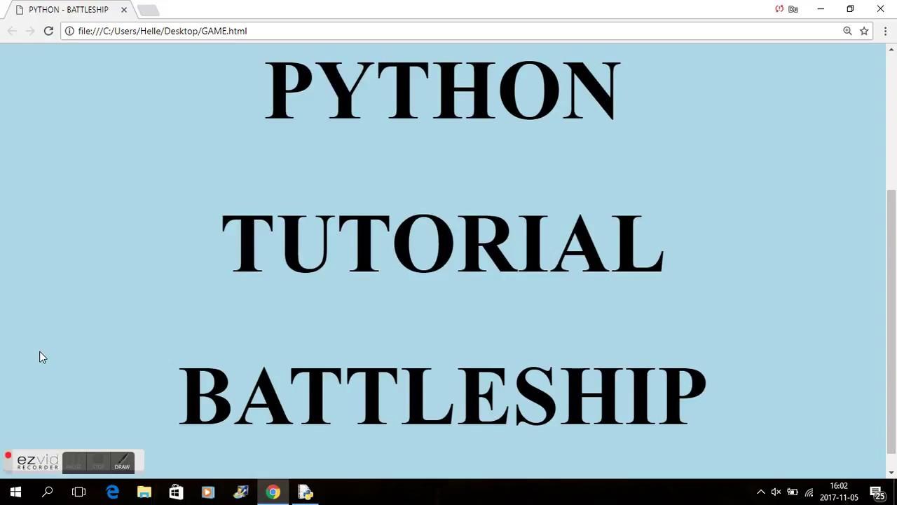 Python Battleship Game Youtube