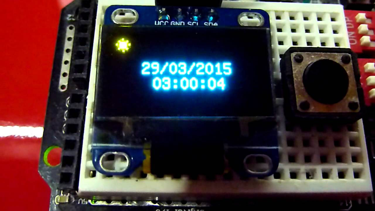 Arduino rtc clock and oled lcd youtube