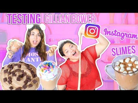 TESTING GILLIAN BOWER INSTAGRAM SLIMES | FOOD SLIMES | Slimeatory #80