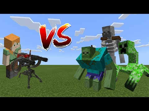 Alex Vs Mutant Creatures - Minecraft PE / Bedrock Edition