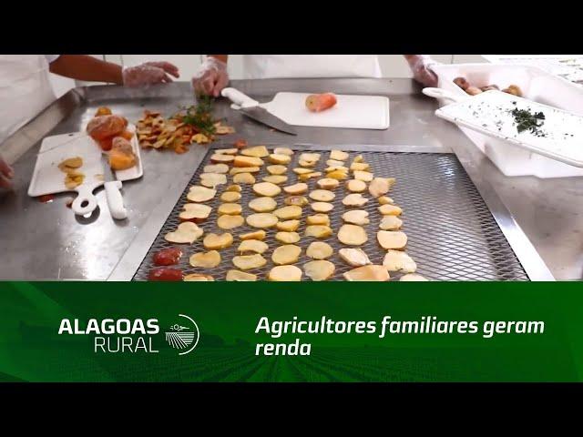 Agricultores familiares geram renda produzindo frutas desidratadas