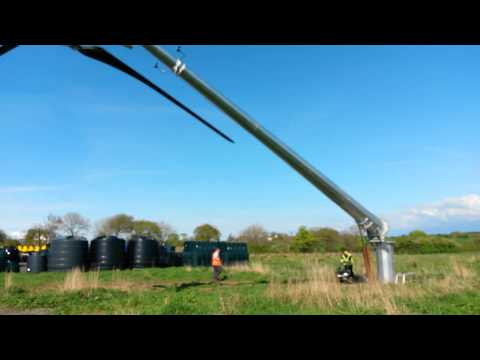 lifting a 15KW kingspan wind turbine