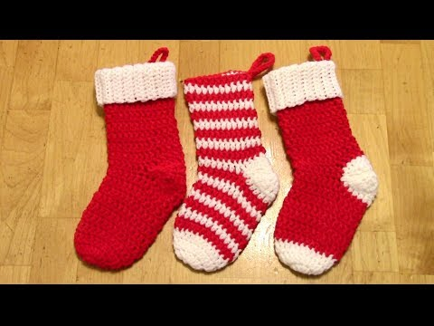 Crochet Christmas Stocking Tutorial (Spiral/no Seam)