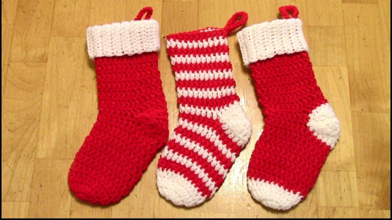 789879940 Crochet Christmas Stocking Tutorial (Spiral no seam) - YouTube