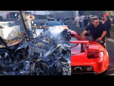 BEFORE & AFTER Paul Walker accident crash video