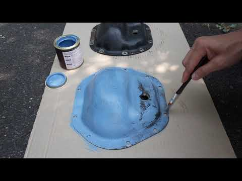 ラングラーTJのデブカバーをイイ感じの水色で塗る