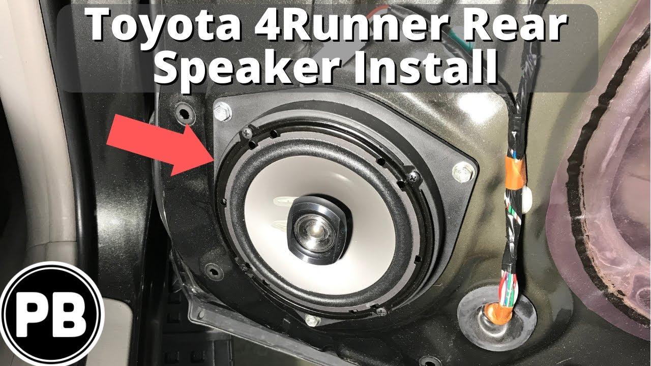 2017 Toyota 4runner >> 2003 - 2009 Toyota 4Runner Rear Door Speaker Install - YouTube