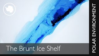 Crack in the Brunt ice shelf - drone footage by British Antarctic Survey