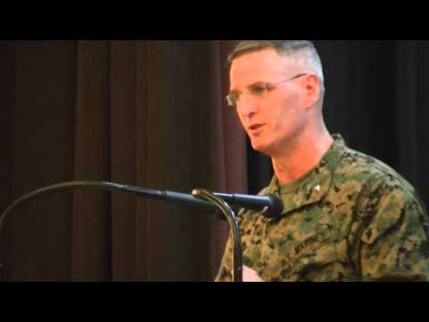 Deputy commander of the US Marine Corps Forces in the Pacific, Brigadier General CJ Mahoney