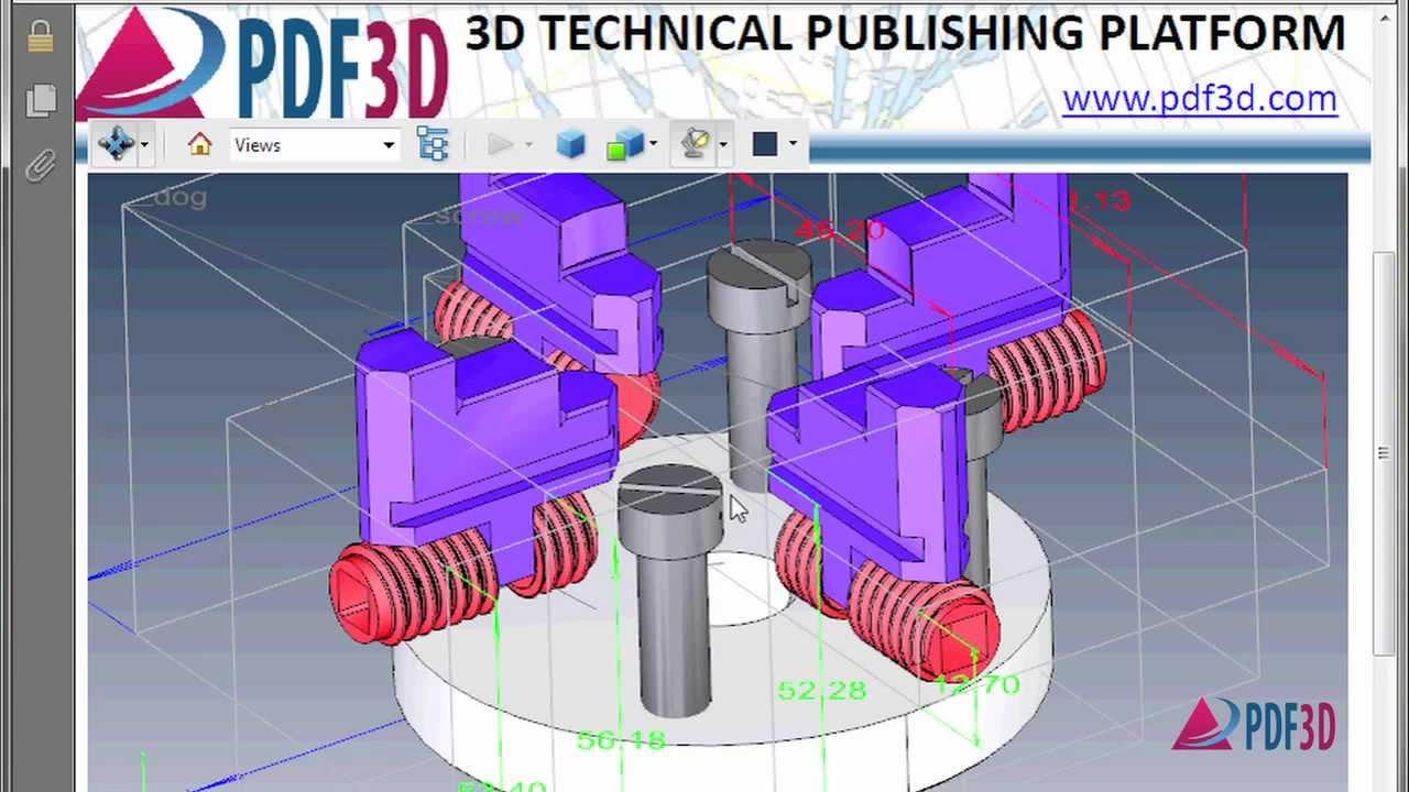 DWG to 3D PDF Conversion Video Tutorial