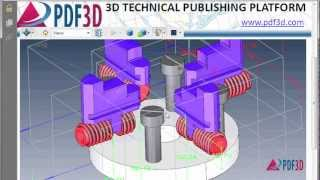 DWG to 3D PDF Conversion Video Tutorial(This video shows how to create 3D PDFs from AutoCAD DWG 3D files using PDF3D's ReportGen (request your free trial here: http://www.pdf3d.com). DWG to ..., 2013-02-26T16:02:34.000Z)
