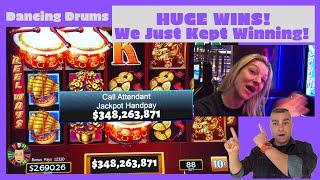 💥HUGE! Dancing Drums Win After Win Jackpot!💥