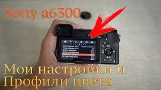 Sony a6300 Мои настройки и профили цвета [Street Ninja TV]